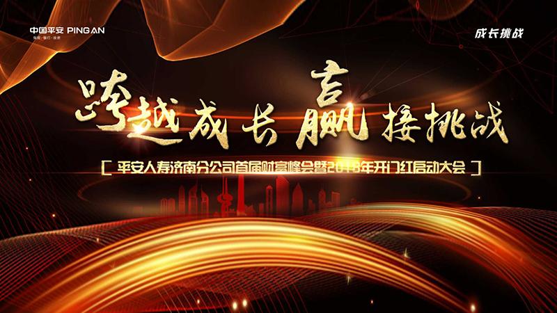 平安人寿济南分公司首届财富峰会暨2018年开门红启动大会